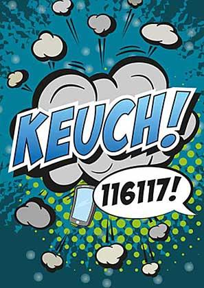 Postkarte KEUCH!