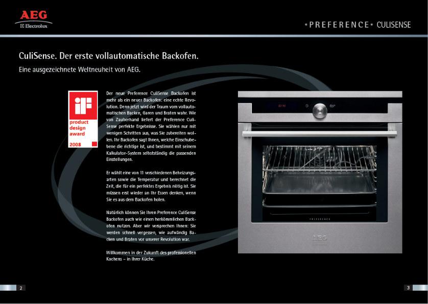 AEG Culisense Endverbraucher Broschüre 3-4